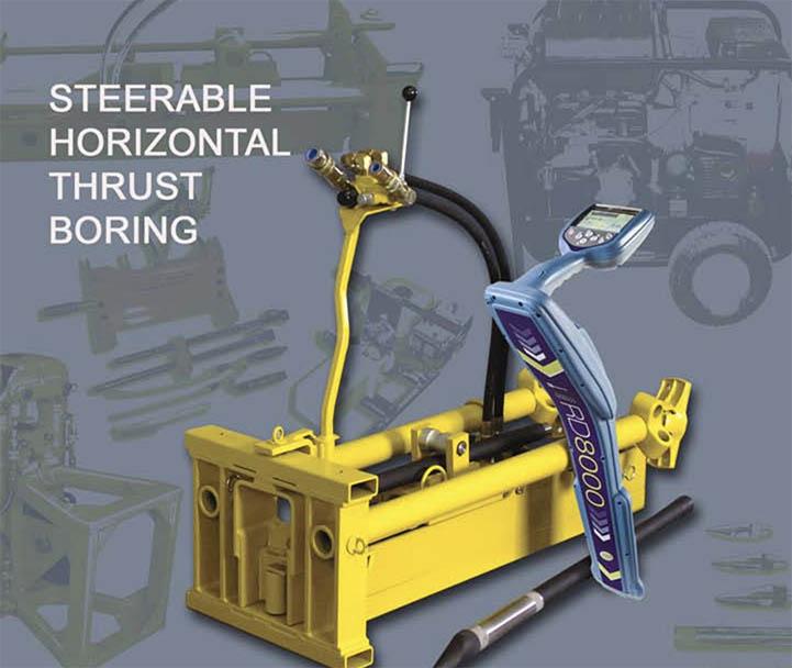 Directional thrust boring